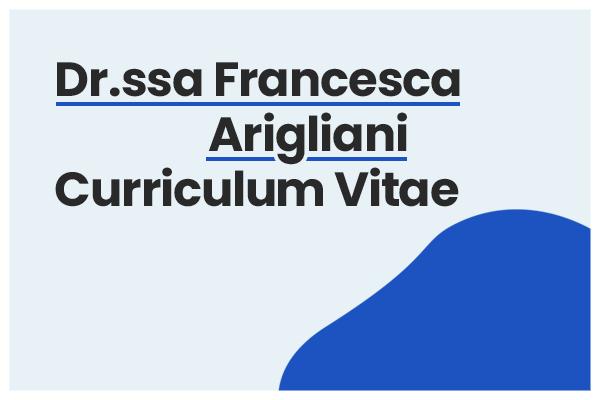 curriculum francesca arigliani
